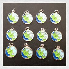 12 Enamel Globe Learning Kid Charms Jewelry Earring Bracelet Making A19
