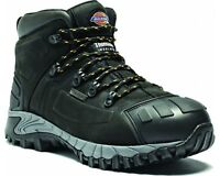 MENS DICKIES WATERPROOF MEDWAY SAFETY BOOTS SIZE UK 6 - 12 BLACK HIKER FD23310