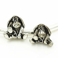 2pcs European Silver plated Charm Bead Fit sterling 925 Necklace Bracelet Chain