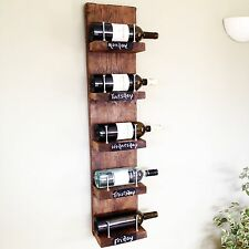 Bespoke reclaimed vintage scaffolding boards wooden wine rack  Made To Order