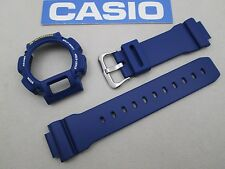 Genuine Casio G-Shock DW-9052 watch band & bezel navy blue fits DW-9050 DW-9051