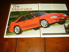 1993 FORD MUSTANG COBRA TWIN TURBOCHARGED 883 H.P. ***ORIGINAL 2007 ARTICLE***