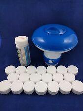 20x20g Chlorine Tablets Pool Hot Tub Spa + Dispenser + Testing strips FULL KIT!