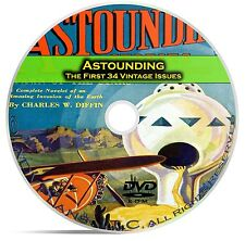 Astounding, 34 Classic Pulp Magazine, Golden Age Science Fiction DVD  C40