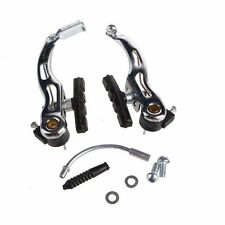 MTB Mountain Bike Bicycle Cycling V-Brake Set Front + Rear Kit Parts  Black New