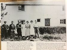 r7 ephemera reprint picture rural workers leavenheath 1935 petch  holder