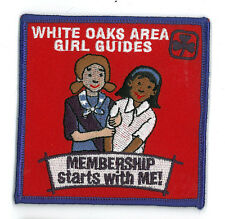 """Girl Guide Scout Brownie BADGE PATCH – new! White Oaks Canada Membership 3.5"""""""