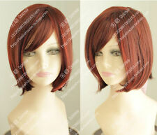 bob Copper Red Fashion women short straight hair Christmas party wigs