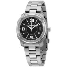 Wenger Black Dial Stainless Steel Band Silver Ladies Watch 011121109