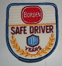 Borden Dairy early 1970's Vintage 11 Year Safe Driver Uniform Patch NEW!!