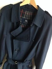 Burberry london homme med pour grands 40-42 classic navy blue trench coat imperméable