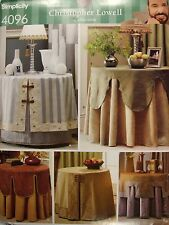 Table Covers Toppers Sewing Pattern Simplicity 4096 See Full Listing Info