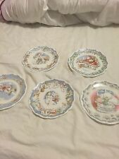 Royal Doulton Snowman Plates Complete Collection Including The Visit