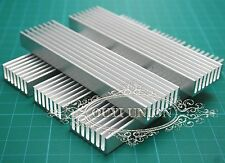 Aluminum Heat Sink for LED and Power IC Transistor Module PBC 100*25*10mm 5pcs