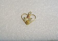 10K YELLOW GOLD BLACK HILLS GOLD GRAPE BUNCH LEAVES NECKLACE PENDANT N620-W