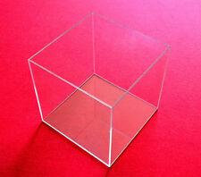 TIsch Vitrine Würfel Acryl Glas Box mit Deckel Schaukasten 20x20x20 cm Klar Neu
