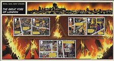 2016 The Great Fire of London Stamps in Presentation Pack no. 531