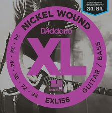 3 sets D'Addario EXL156 Nickel Guitars Strings For Designed Fender Bass VI