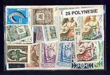 Polynésie Française- Océanie 25 timbres différents