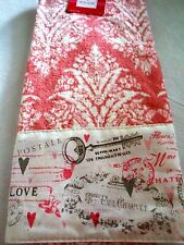 LOVE VALENTINE'S HAND OR DISH'S 1 TOWEL PINK & WHITE 100% COTTON SHOWER GIFT