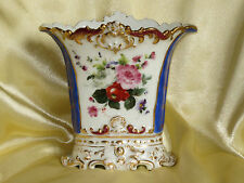 PORCELAINE DE  PARIS VASE STYLE JACOB PETIT DECOR FLORAL XIXE SIECLE