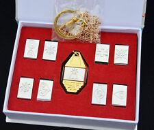 Digimon Adventure Tags & Crest Emblem Necklace Pendant 9PCS/Set Collection Box