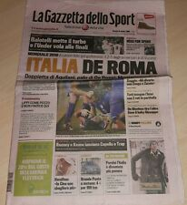 GAZZETTA DELLO SPORT 16 OTTOBRE 2008 ITALIA DE ROMA NAZIONALE