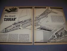 "VINTAGE...F9F-8 COUGAR ""BLUE ANGELS"" & RC-121D.. 4-VIEWS/CUTAWAY..RARE! (481)"