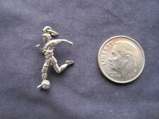You Get 2 - Sports Soccer Player Kicking Ball Charm - Jewelry - NEW