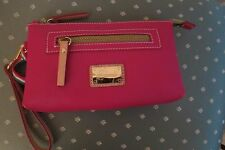 Cute Cavalcanti Hot Pink Saffiano Leather Wristlet/Clutch – NWT