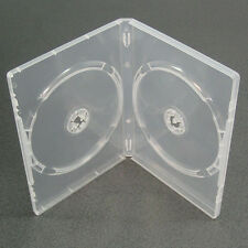 20 CLEAR  DOUBLE 7mm SLIMLINE DVD/CD CASES WITH SLEEVE- Side by Side