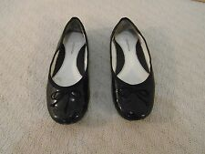 Women's Nordstorms 2M Genuine Leather Upper Black Ballet Slip On Flats Shoes