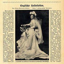 Die märchenhafte englische Damen-Mode zum Empfang im Buckingham-Palast 1910