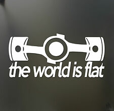 The world is flat sticker V1 Subaru WRX STI BRZ Scion Funny JDM hooligan decal