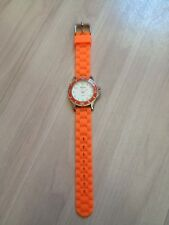 Nordstrom Sophie Watch Orange Jelly Silicone Strap Stationary Diver Bezel