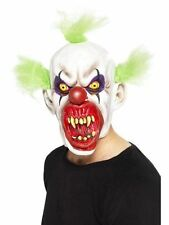 Fancy Dress Evil Sinister Clown Mask Smiffys Scary Circus Halloween