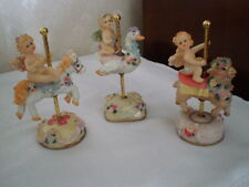 SET OF 3  K'S COLLECTION LIMITED EDITION FAIRIES ON CAROUSEL HORSE/ SWAN/ LAMB