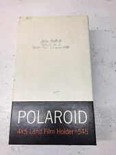 Vintage Polaroid #545 4x5 Instant Land Camera Film Holder in Original Box