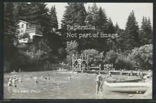 CA Rio Nido RPPC 1946 SWIMMING DOCK on RUSSIAN RIVER Kids at High Diving Board