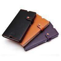 LIM'S Premium Leather Slim Fit Diary Edition Stand Cover Case for Sony Xperia Z