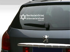 Whoever Blesses Israel Vinyl Stickers Car Bible Decal Sticker 3x10 Jewish Star