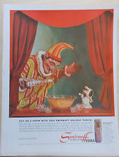 1960 magazine ad for Smirnoff Vodka - Punch & Toby puppets celebrate holiday
