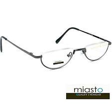 MIASTO TOP RIMLESS 1/2 MOON HALF FRAME METAL READER READING GLASSES SPECS+3.75