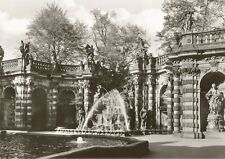 Postcard Germany Dresden Nymphenbad Im Zwinger Fountain RPPC Unused