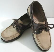 PARABOOT Suede Leather Deck Shoes FRANCE Dooney & Bourke Tan Brown Men 5 Women 7
