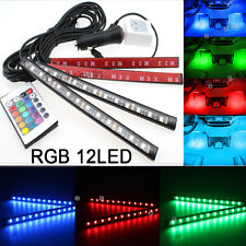 RGB Color Bar Glow Dash Footwell Interior Light 12 LED Strip Lamp SMD for Chevy