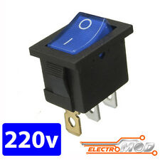 Interruptor 220v AZUL cuadrado luz on / off SPDT 125v rectangular 250v 230v