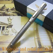 Crocodile Sliver  Raised Barrel fountain pen Luxury  executive writing Ink pen
