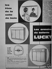 PUBLICITÉ LUCKY LES ARMOIRES DE TOILETTE FÉES DE LA SALLE DE BAIN - ADVERTISING