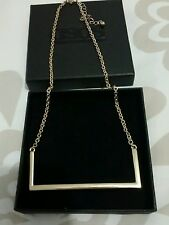 ASOS Ladies Gold Plated Rectangle Gold Bar Short Chain Necklace BNIB